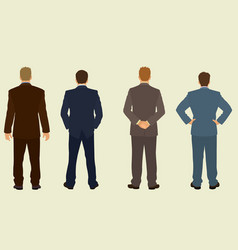 businessmen viewed from back vector image