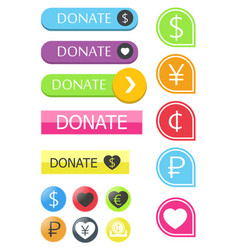 button for the site donate vector image