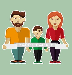 Cartoon family design vector