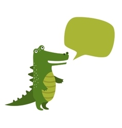 cartoon rocodile holdingclean banner board vector image