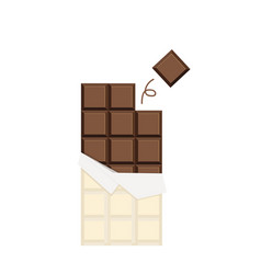 chocolate bar flat design isolate background vector image