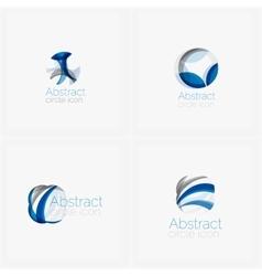 Circle abstract shape logo vector