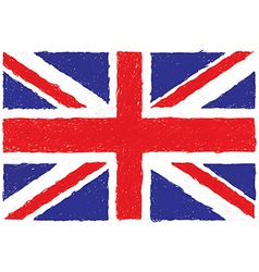 Closeup of a united kingdom flag vector