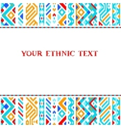 Colorful ethnic geometric aztec template vector