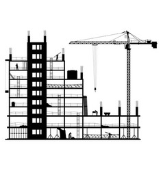 Construction site on a white background vector