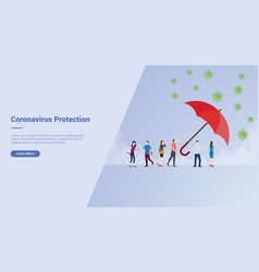 Corona virus protection campaign concept for vector