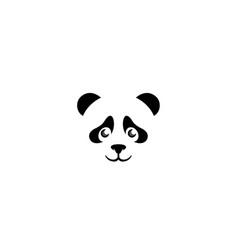 creative panda head logo vector image