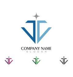 Diamond logo template icon design vector