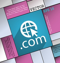 Domain COM icon symbol Flat modern web design with vector image