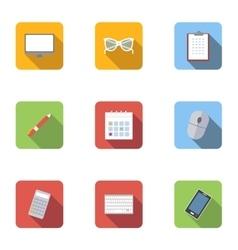 Employee icons set flat style vector image