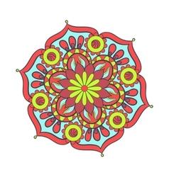 entangle stylized elegant color mandala vector image
