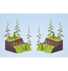Footpath in the mountains vector