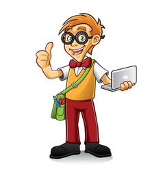 Geeky Boy vector image