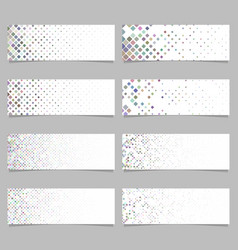 Geometric rounded square mosaic pattern banner vector