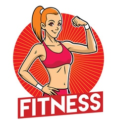 Girl gym mascot vector