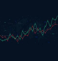Global network world big data financial profit vector