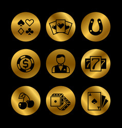 gold and black lottery roulette casino slot vector image