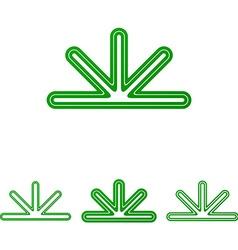 Green abstract line logo design set vector