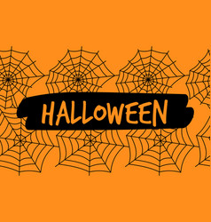 halloween spiderweb seamless pattern vector image