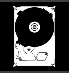 hard drive disk the white color icon vector image