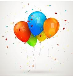 holiday balloons vector image