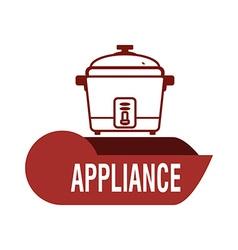 Home appliance design vector image