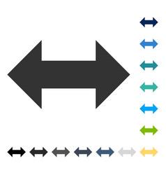 Horizontal exchange arrows icon vector