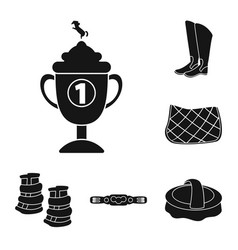 isolated object of sport and competition symbol vector image