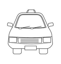 Isolated taxi car vector