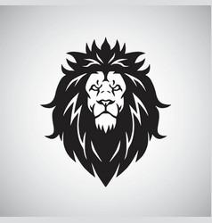 Lion head logo mascot vector