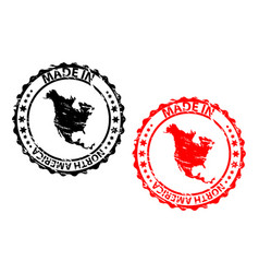 made in north america rubber stamp vector image