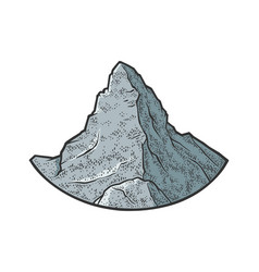 matterhorn mountain sketch vector image