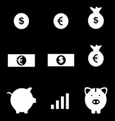 Money icons set vector image