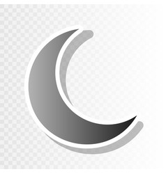 moon sign new year blackish vector image