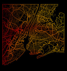 new york city color map vector image