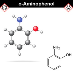 Ortho aminophenol chemical structure vector