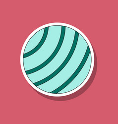 Paper sticker on stylish background fitball vector
