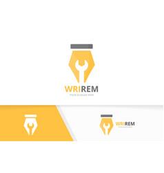 Pen and repair logo combination write vector