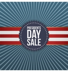 Presidents Day Sale blue Banner with Ribbon vector image