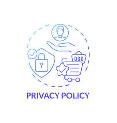 Privacy policy concept icon vector