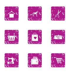 Procurement icons set grunge style vector