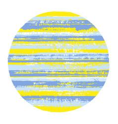 ragged circle geometric shape vector image
