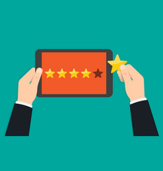 rating and review customer reviews rating vector image