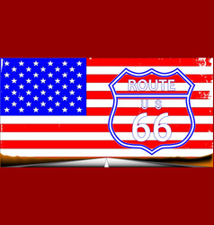 Route 66 flag vector