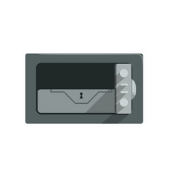 Safe steel closed box safety business box cash vector