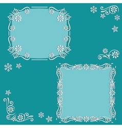 Set floral frame vector