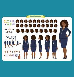 Set of black businesswoman character design vector