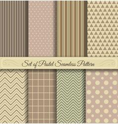 set pastel seamless pattern vector image