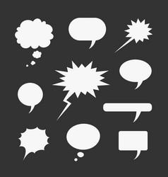 set symbols comic bubble vector image