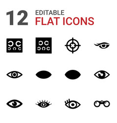 sight icons vector image